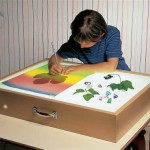 Рисуем на песке - ящик с подсветкой